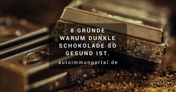 Zartbitterschokolade - 8 gute Gründe warum dunkle Schokolade so gesund ist.
